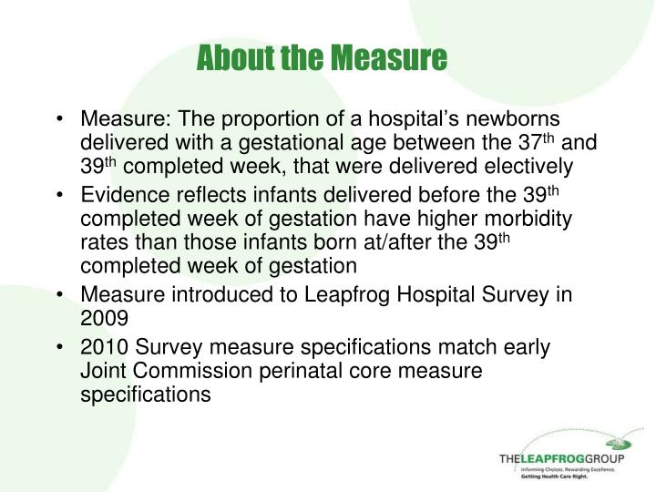 About the measure