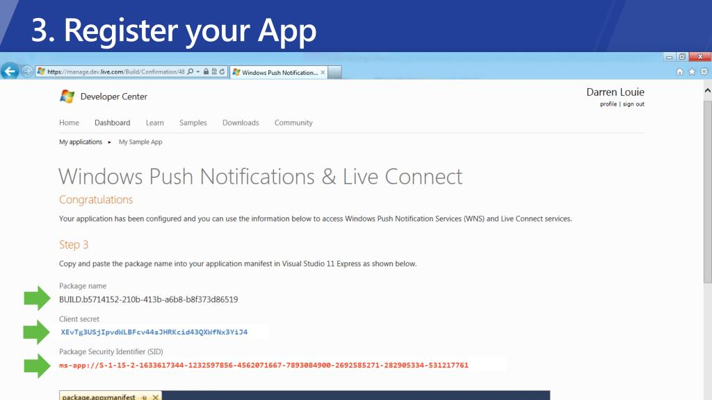 3. Register your App