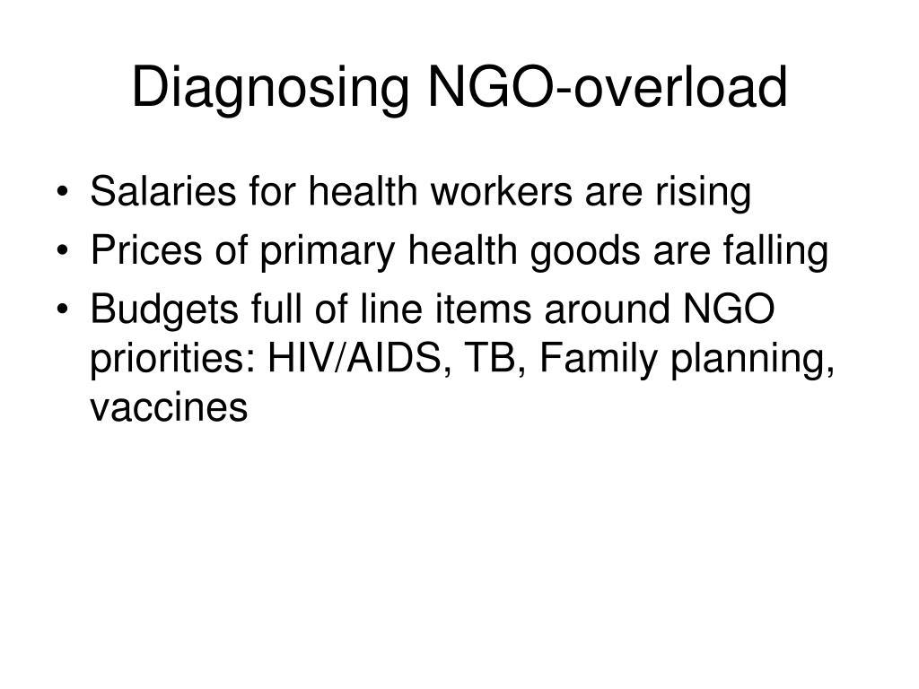 Diagnosing NGO-overload