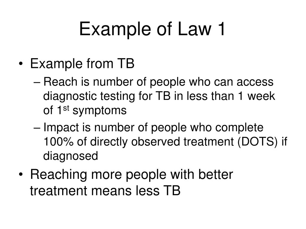 Example of Law 1