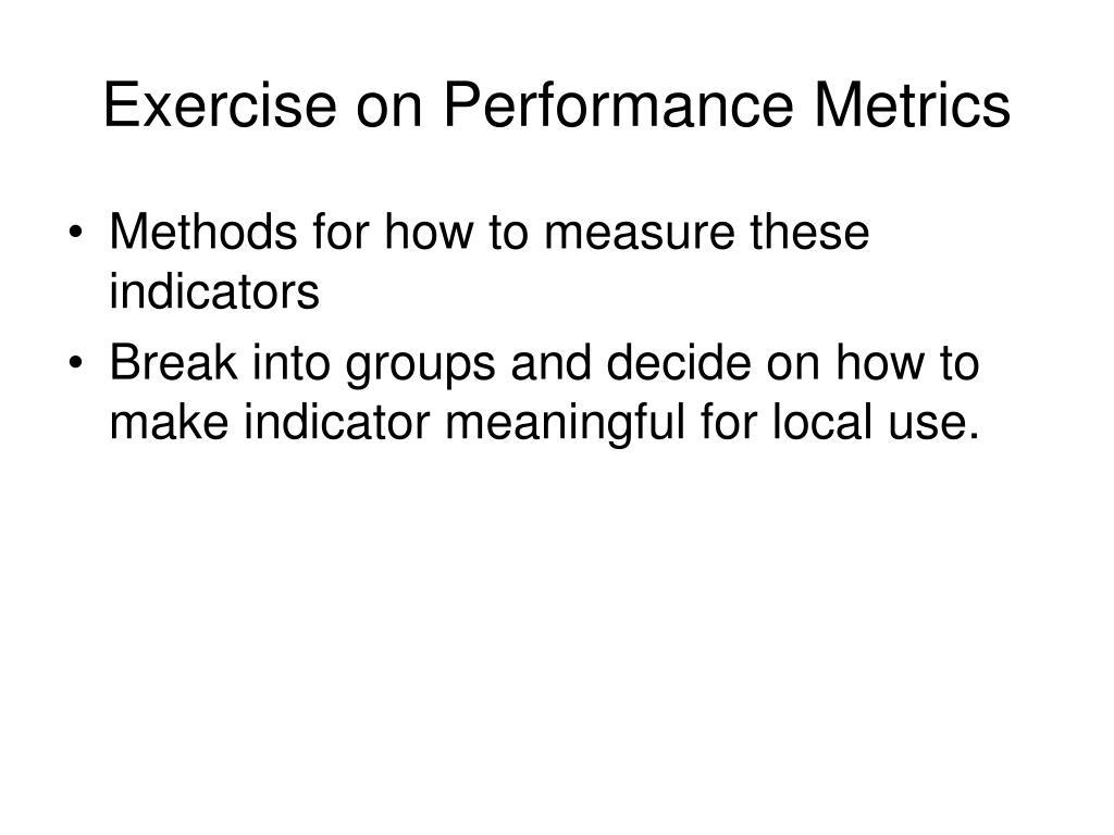 Exercise on Performance Metrics