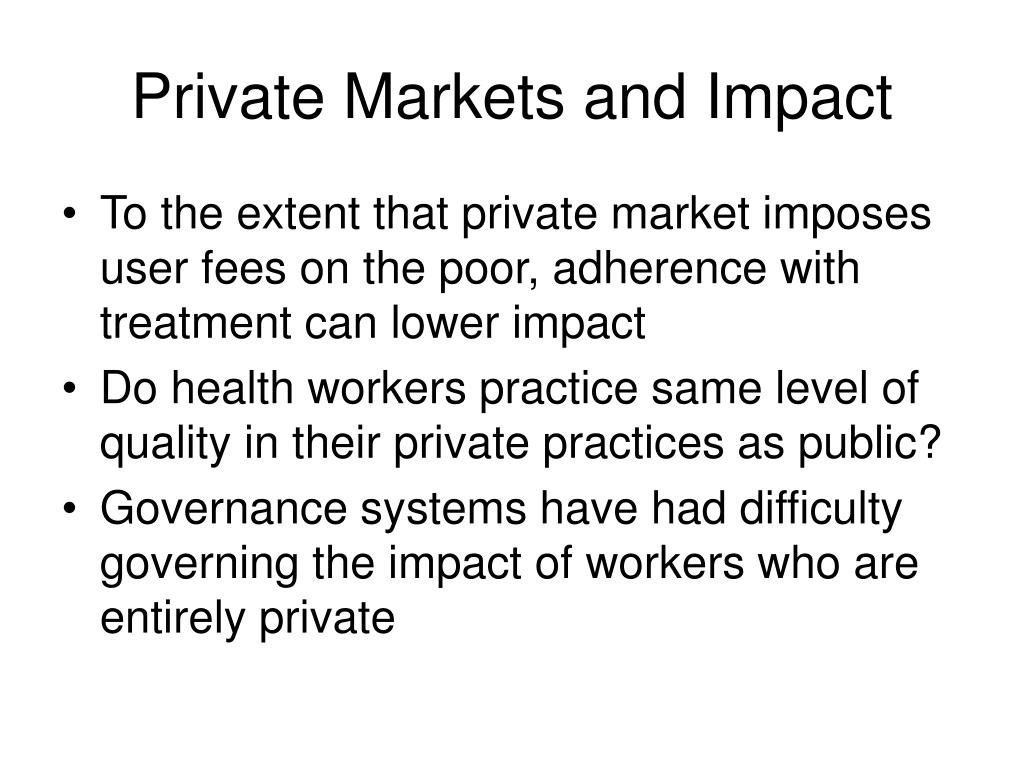 Private Markets and Impact