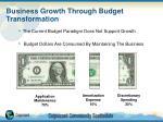 business growth through budget transformation