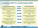 conventional bpo vs transformational bpo
