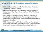why bpo as a transformation strategy