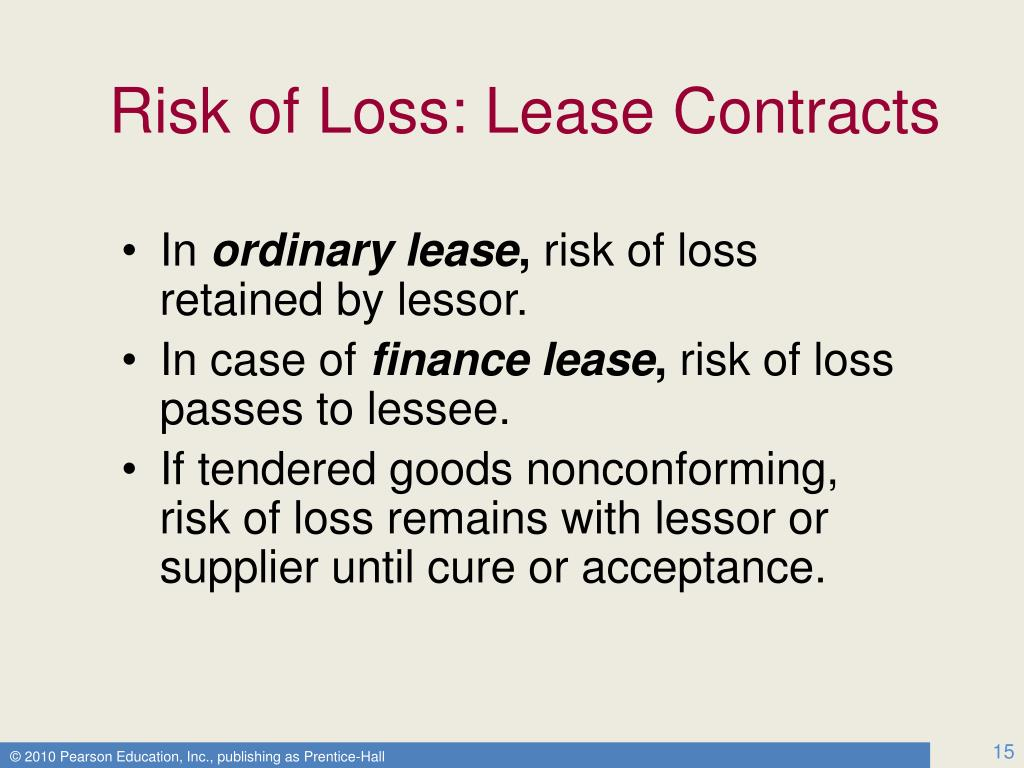 Risk of Loss: Lease Contracts