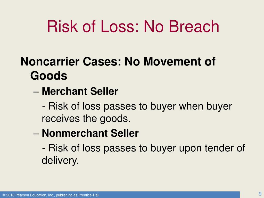 Risk of Loss: No Breach