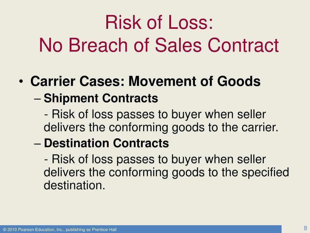 Risk of Loss: