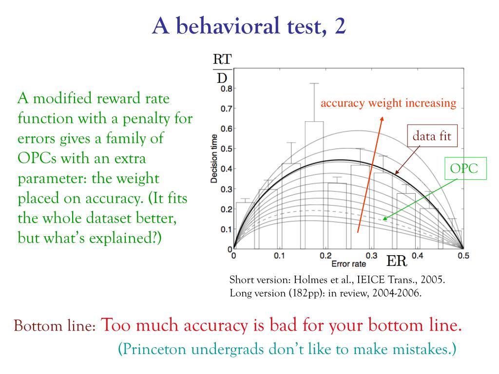 A behavioral test, 2