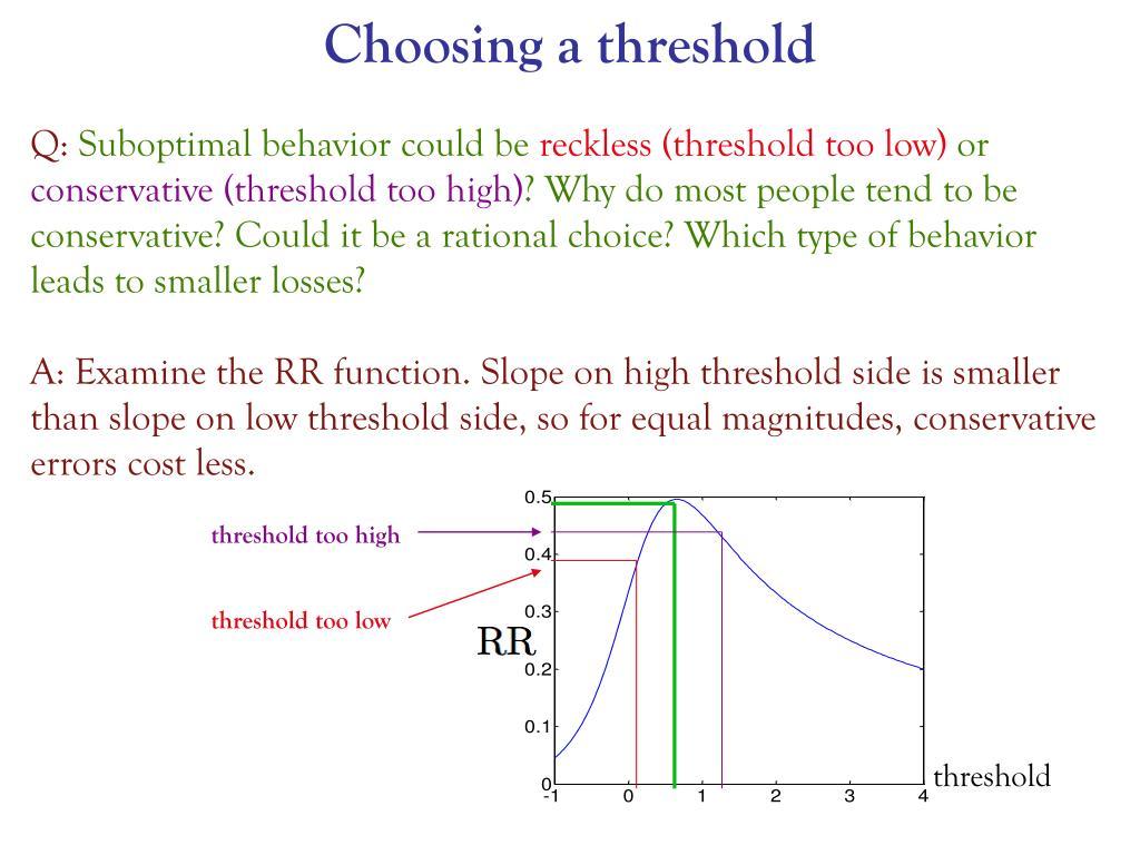 Choosing a threshold