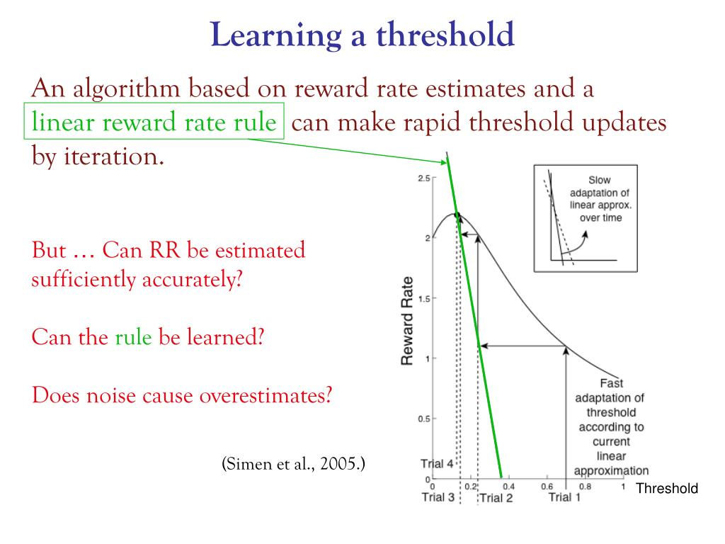 Learning a threshold