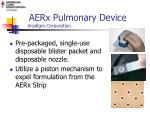 aerx pulmonary device aradigm corporation