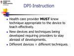 dpi instruction