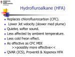 hydrofluroalkane hfa