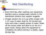 neb disinfecting