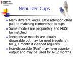 nebulizer cups