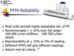 pfm reliability