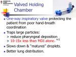 valved holding chamber