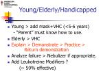 young elderly handicapped