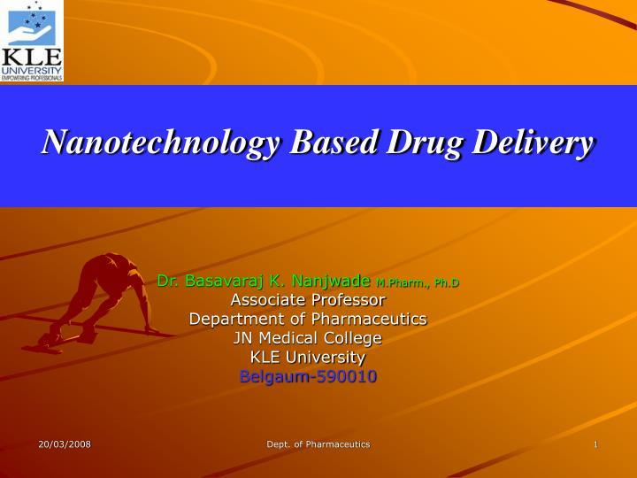 nanotechnology based drug delivery n.
