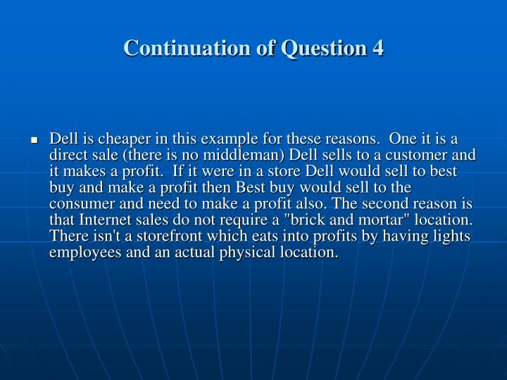 Continuation of Question 4