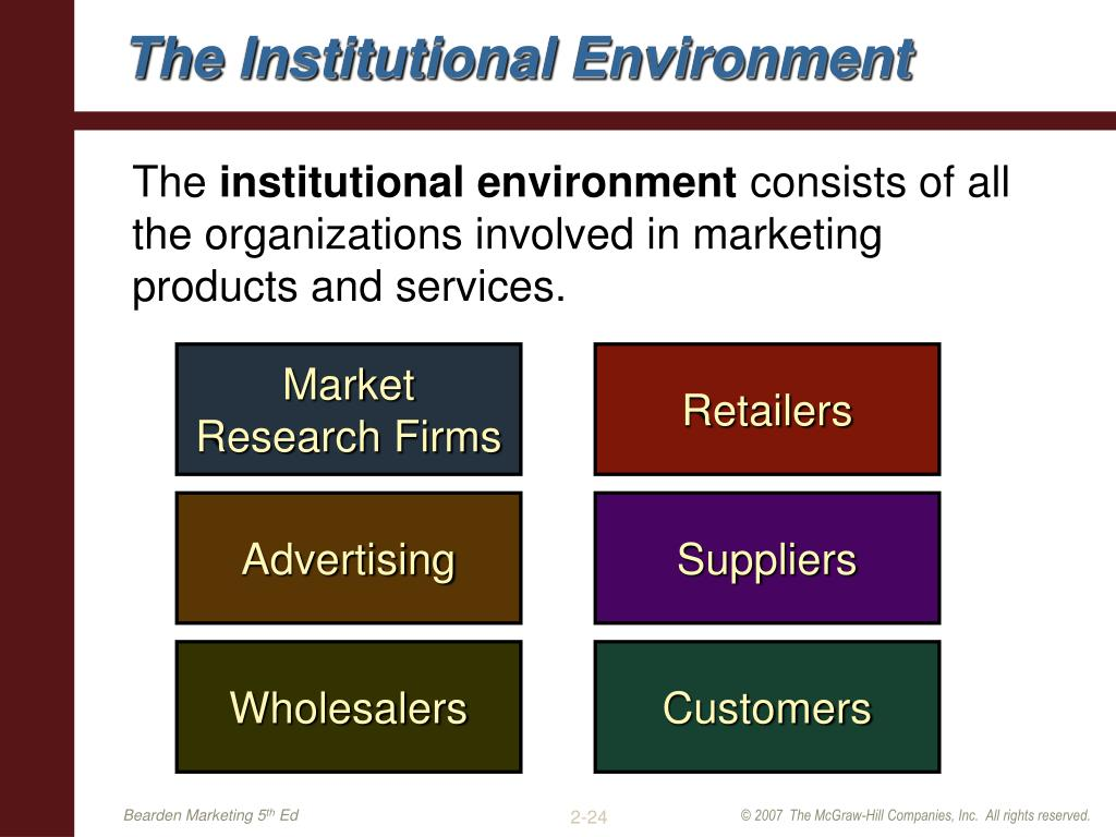 The Institutional Environment