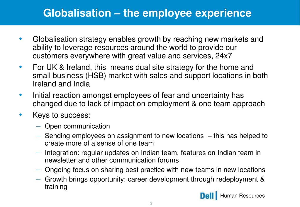 Globalisation – the employee experience