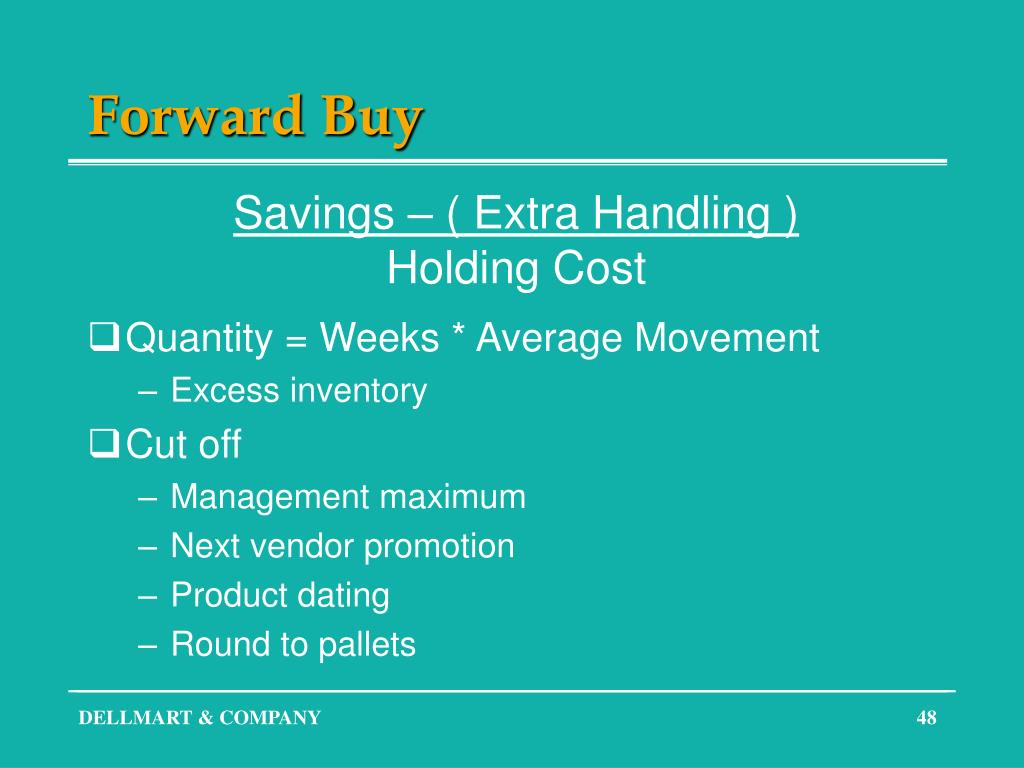 Forward Buy