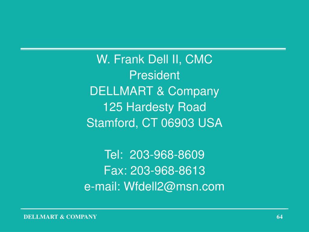 W. Frank Dell II, CMC