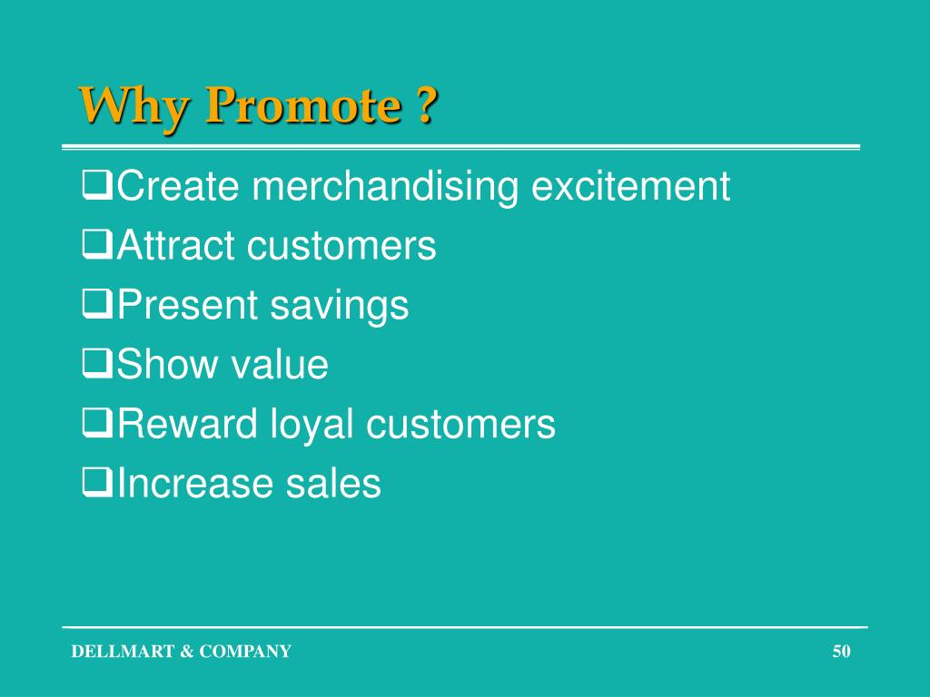 Why Promote ?