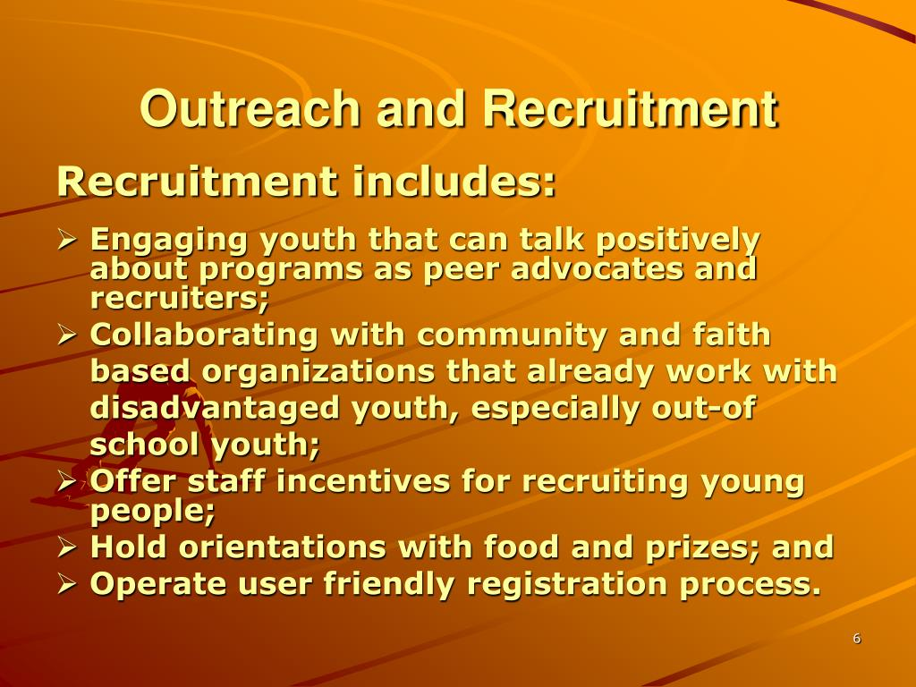 Outreach and Recruitment