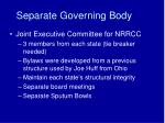 separate governing body
