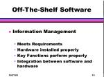 off the shelf software19