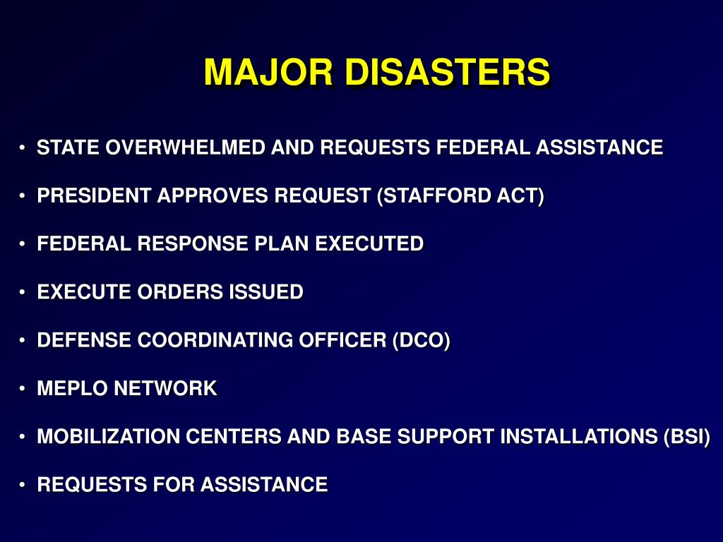 MAJOR DISASTERS