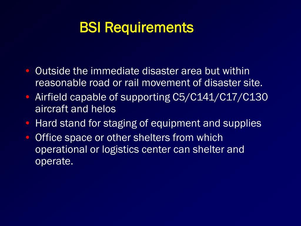 BSI Requirements