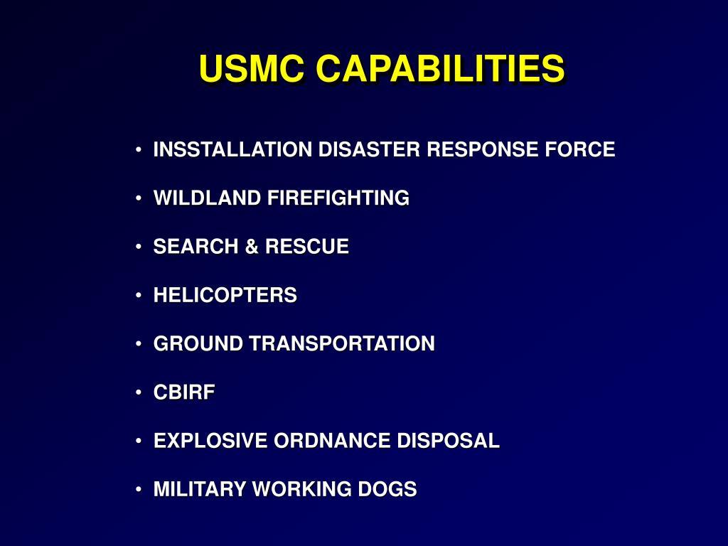 USMC CAPABILITIES