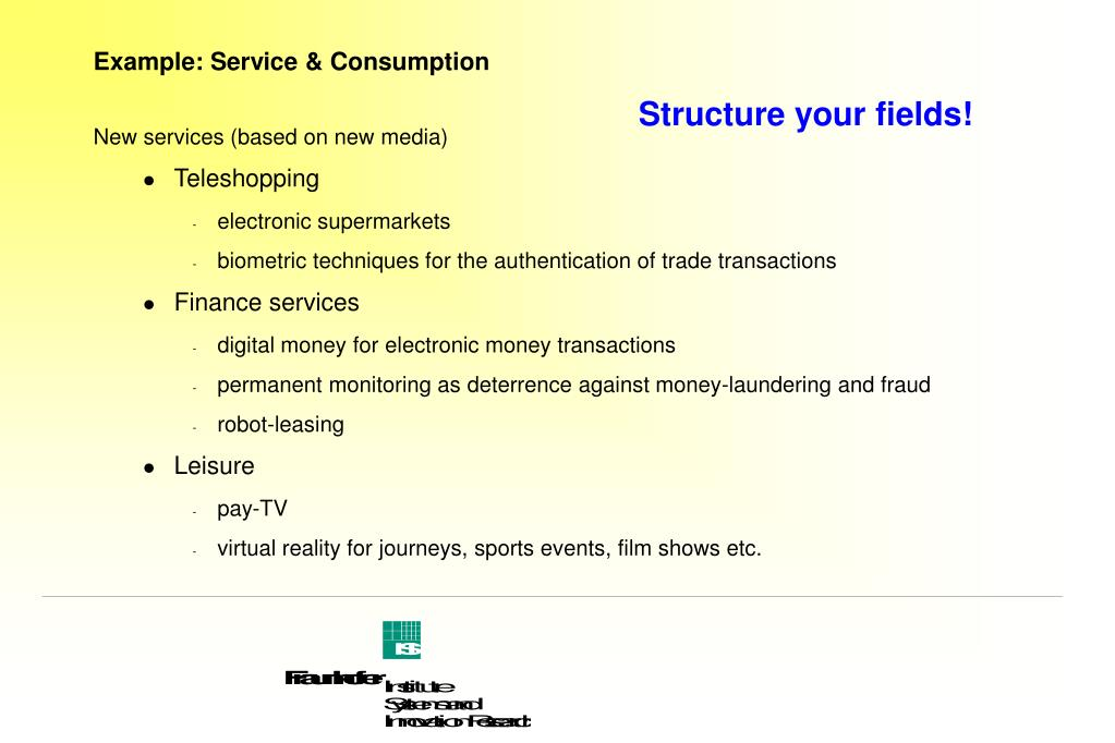 Example: Service & Consumption