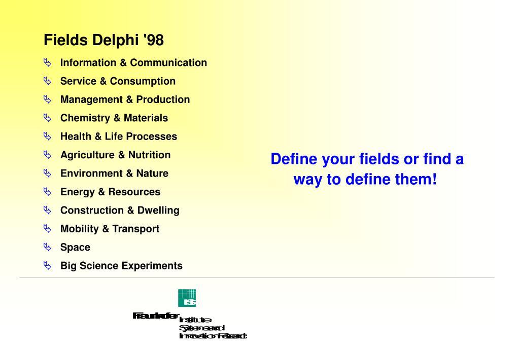 Fields Delphi '98