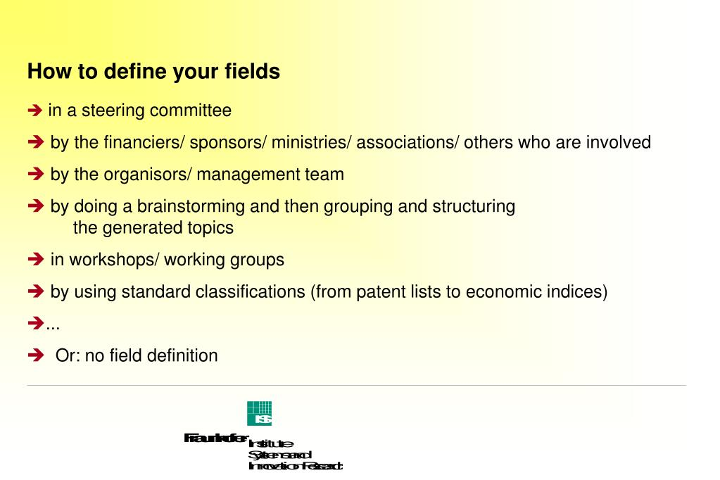 How to define your fields