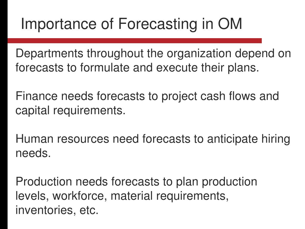 Importance of Forecasting in OM