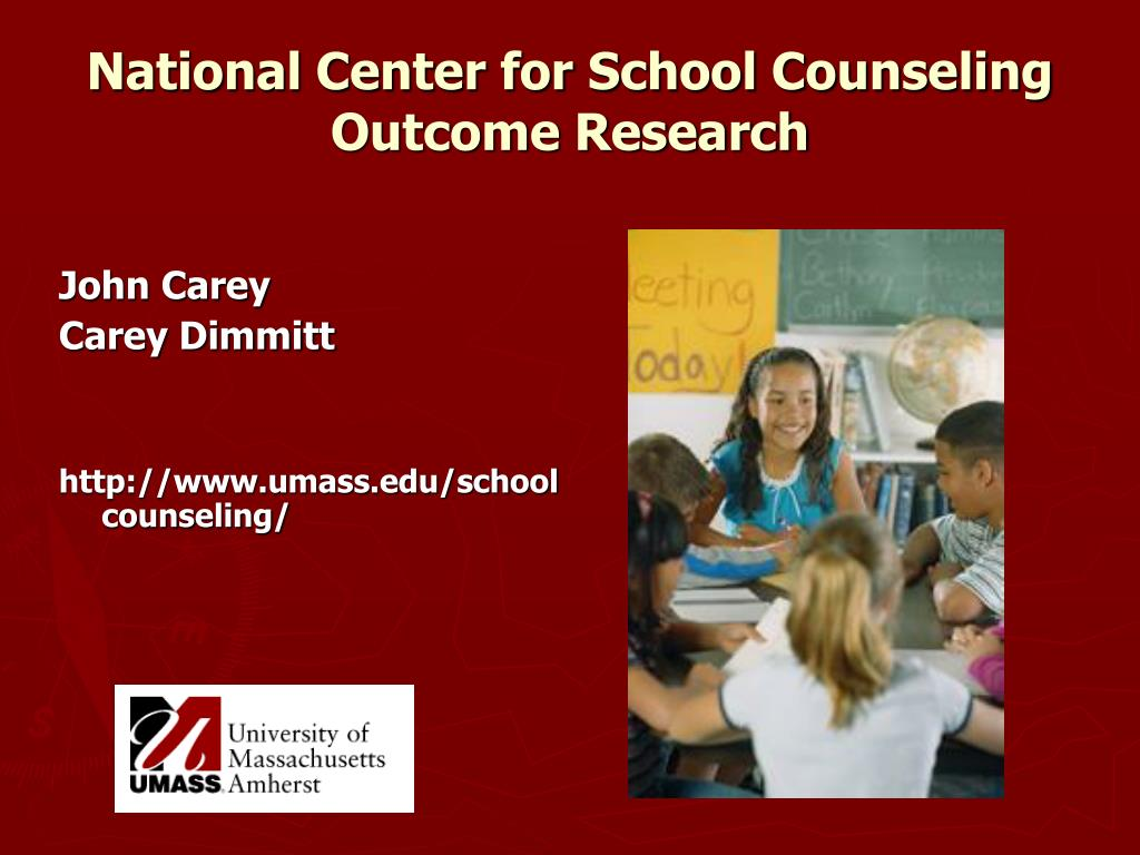 National Center for School Counseling Outcome Research