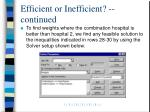 efficient or inefficient continued22