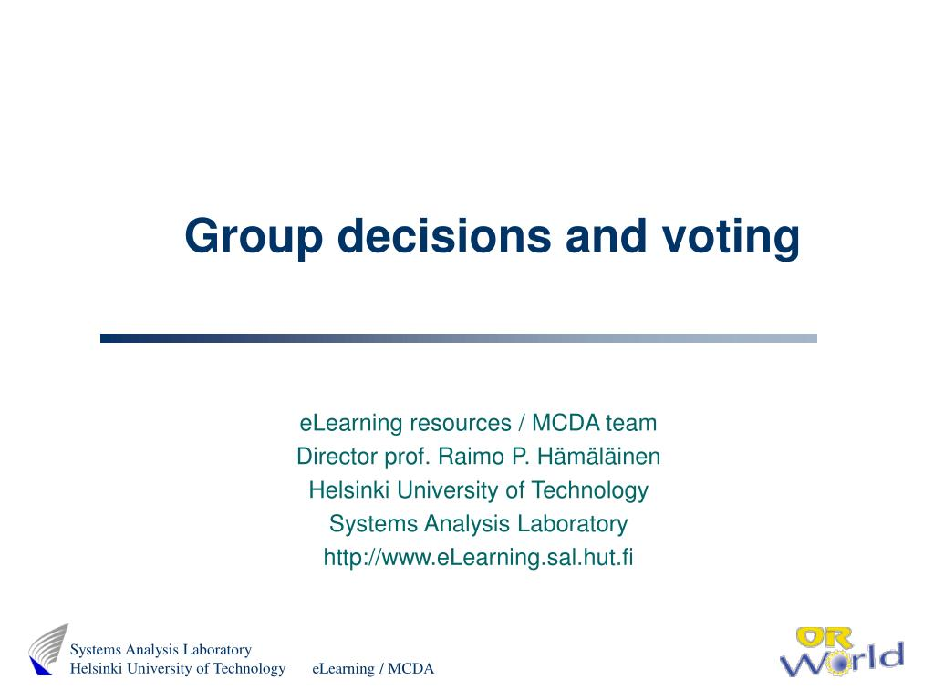 Group decisions and voting