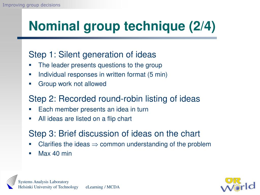 Improving group decisions