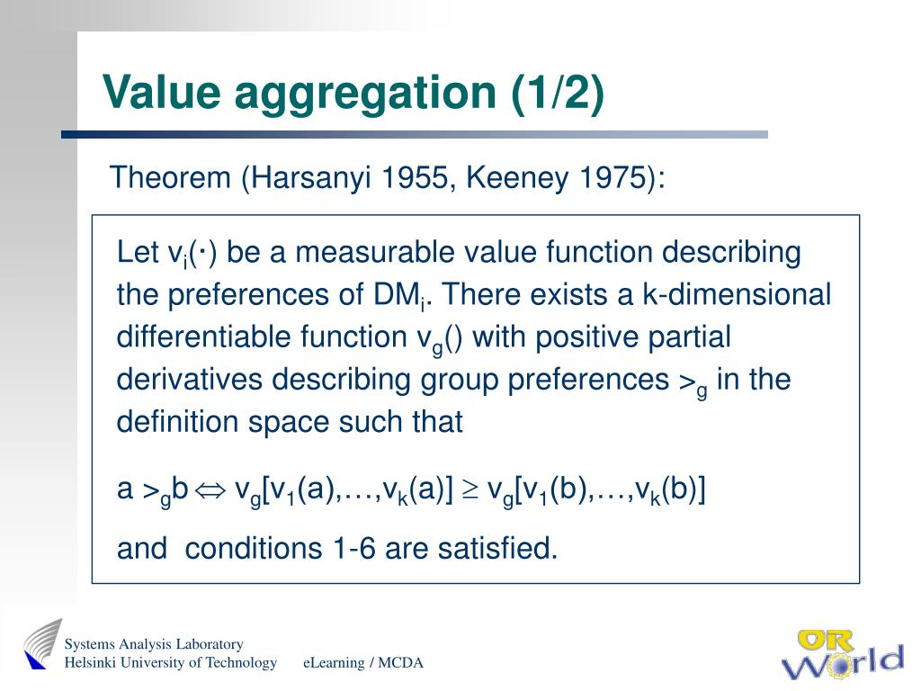 Value aggregation (1/2)