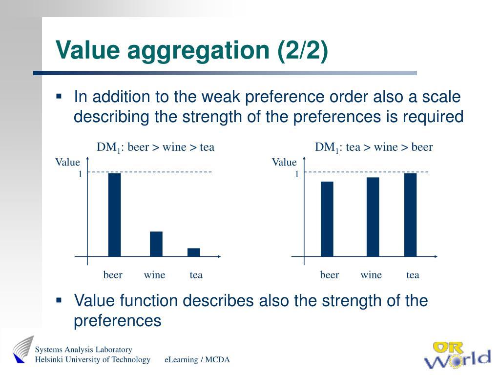 Value aggregation (2/2)