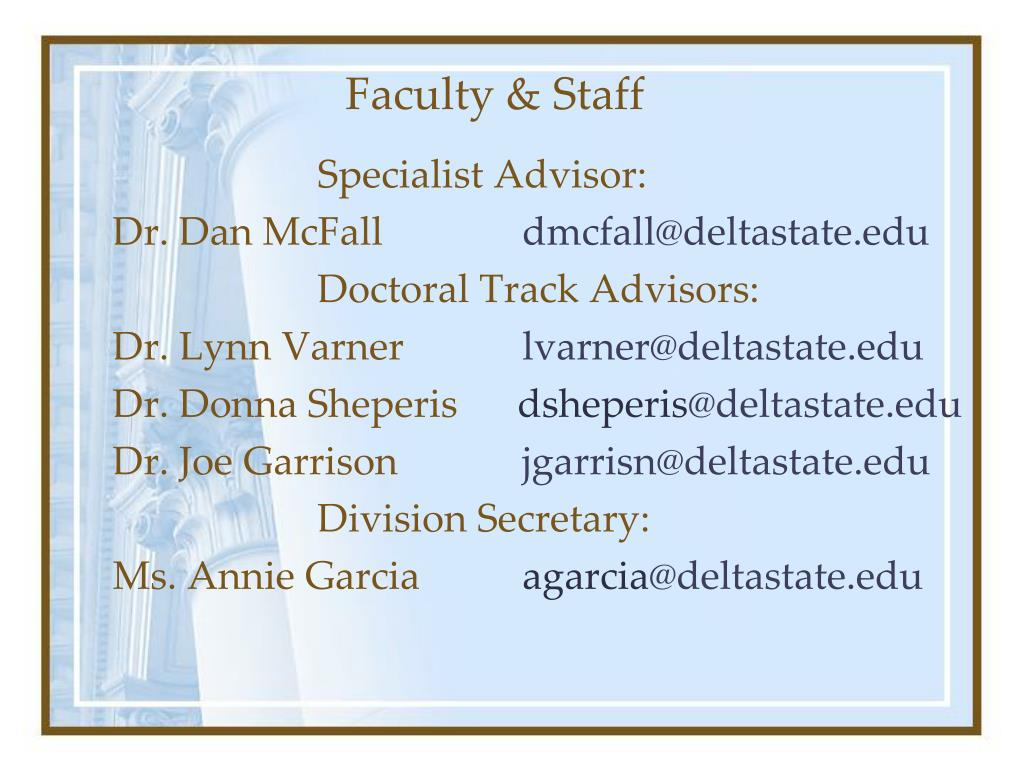 Faculty & Staff