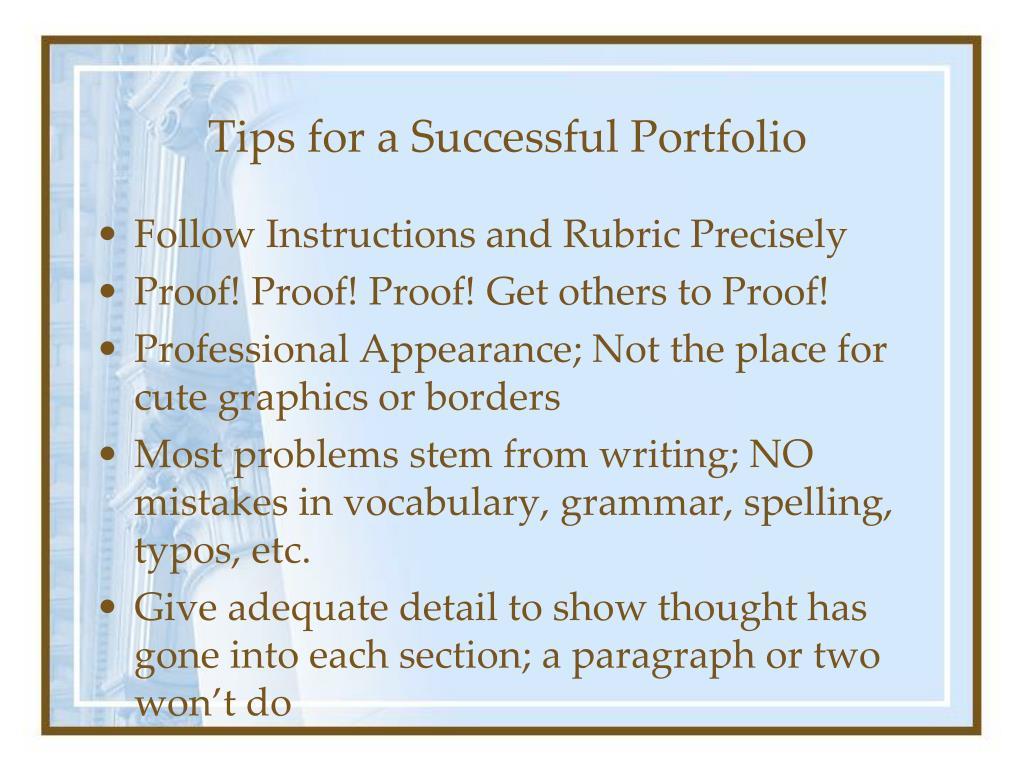 Tips for a Successful Portfolio