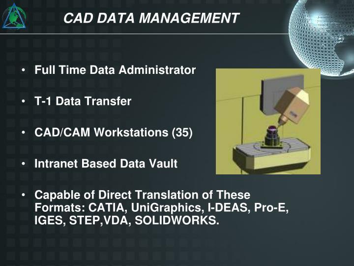 CAD DATA MANAGEMENT
