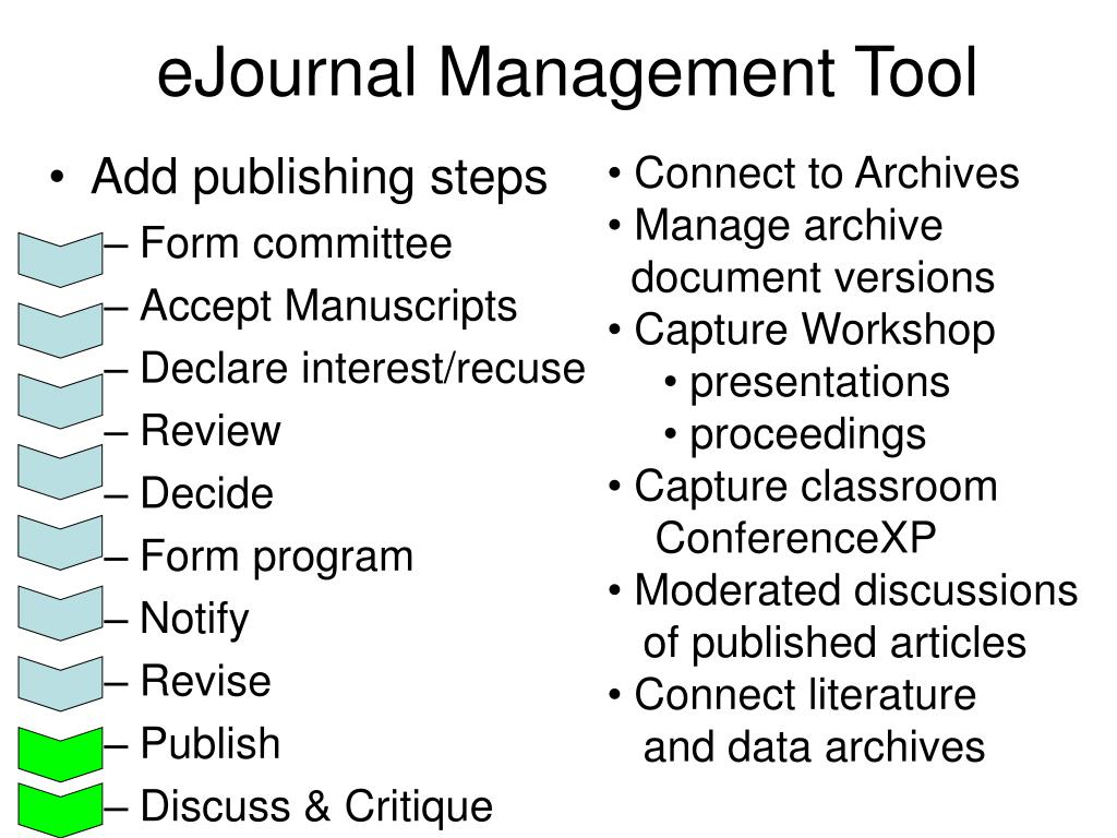 eJournal Management Tool